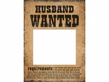 Funny boards Husband Wanted and Wife Wanted (1 pkt / 2 pc.)