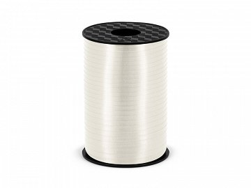 Plastic ribbon, white, 5mm/225m