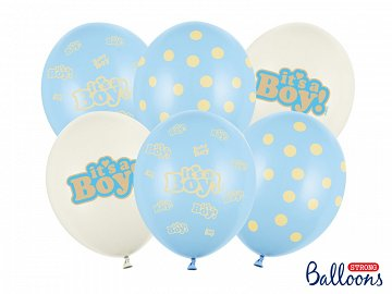 Balloons 30cm, It's a Boy, Pastel Mix (1 pkt / 6 pc.)