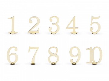 Wooden table numbers, 10.5cm (1 pkt / 10 pc.)