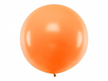 Balon okrągły 1m, Pastel Orange