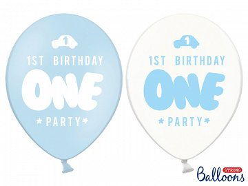 Strong Balloons One, 30cm, Pastel Baby Blue (1 pkt / 6 pc.)