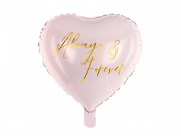 Foil balloon Heart, 45 cm, light pink