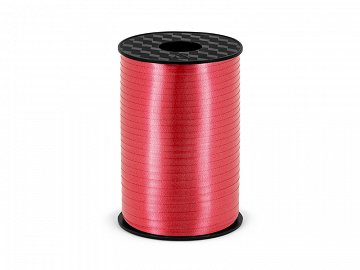 Plastic ribbon, red, 5mm/225m
