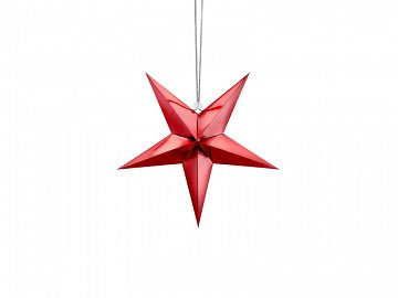 Paper star, 30cm, red