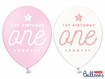 Balony 30cm, One, Pastel Baby Pink (1 op. / 6 szt.)