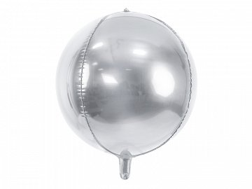 Foil Balloon Ball, 40cm, silver