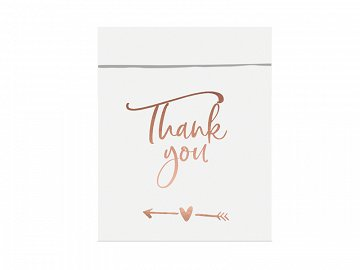 Paper treat bags Thank you, 13x16.5cm  (1 pkt / 6 pc.)