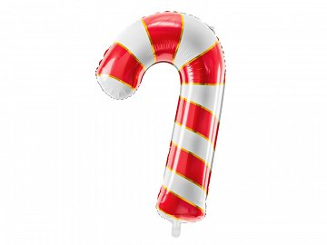 Foil balloon Candy cane, 50x82cm, red