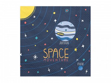 Napkins Space Party, 33x33cm (1 pkt / 20 pc.)