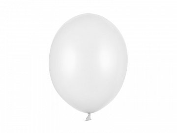 Strong Balloons 30cm, Metallic Pure White (1 pkt / 100 pc.)