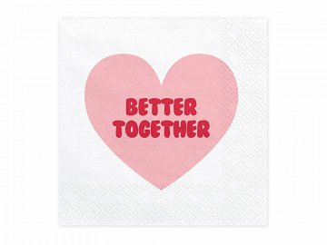 Napkins Sweet Love, 33x33cm (1 pkt / 20 pc.)