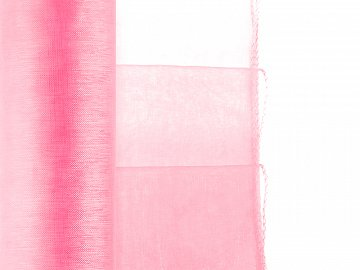 Organza Hemmed, neon light pink, 0.38 x 9m (1 pc. / 9 lm)