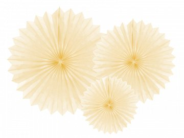 Tissue fan, light cream, 20-40cm (1 pkt / 3 pc.)