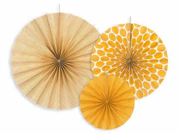 Decorative rosettes, orange (1 pkt / 3 pc.)