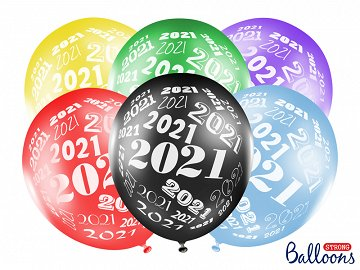 Balloons 30cm, 2021, Metallic mix (1 pkt / 6 pc.)