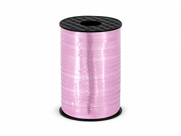 Plastic ribbon, pink, 5mm/225m