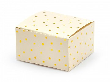 Boxes Dots, light peach, 6x3.5x5.5cm (1 pkt / 10 pc.)