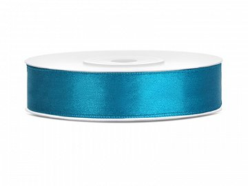 Satin Ribbon, turquoise, 12mm/25m (1 pc. / 25 lm)