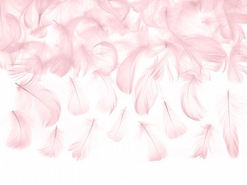Decorative feathers, light pink, 3g