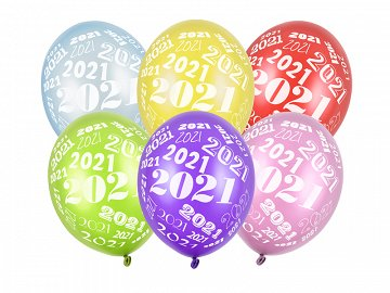 Balloons 30cm, 2021, Metallic mix (1 pkt / 50 pc.)