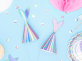 Party hats Mermaid, iridescent, 18cm (1 pkt / 6 pc.)