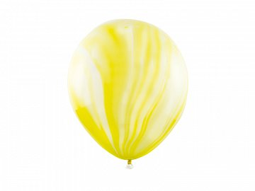 Marble Balloons 30cm, yellow (1 pkt / 6 pc.)