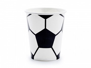 Paper cups Football, mix, 220ml (1 pkt / 6 pc.)