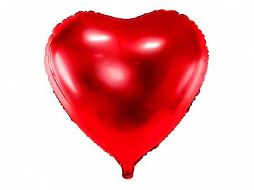 Foil Balloon Heart, 45cm, red