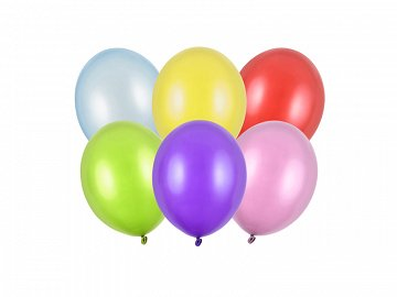 Strong Balloons 12cm, Metallic Mix (1 pkt / 100 pc.)
