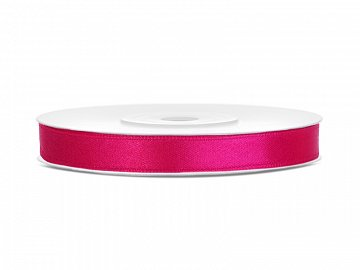 Satin Ribbon, dark pink, 6mm/25m (1 pc. / 25 lm)