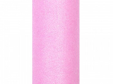 Tulle Glittery, light pink, 0.15 x 9m (1 pc. / 9 lm)