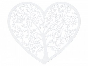Paper Decorations Heart, 13.5 x 11.5cm (1 ctn / 50 pkt) (1 pkt / 10 pc.)
