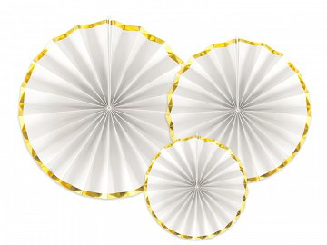 Decorative Rosettes, white (1 pkt / 3 pc.)