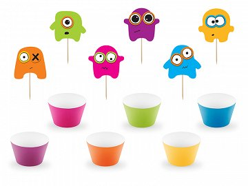 Cupcake kit Monsters (1 pkt / 6 pc.)