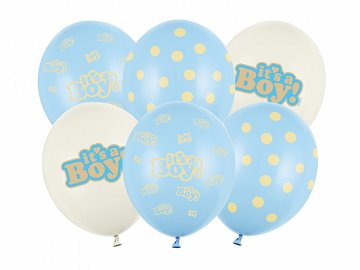 Balloons 30cm, It's a Boy, Pastel Mix (1 pkt / 50 pc.)
