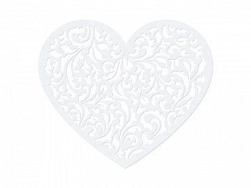 Paper Decorations Heart, 12 x 10cm (1 ctn / 50 pkt) (1 pkt / 10 pc.)