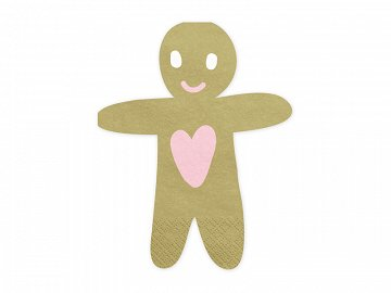 Napkins Gingerbread Man, 16x13cm (1 pkt / 20 pc.)