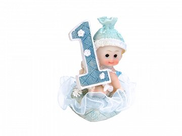 Figurine Boy 1st Birthday, blue, 7cm