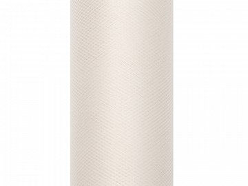 Tulle Plain, cream, 0.3 x 9m (1 pc. / 9 lm)