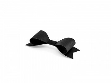 Paper decorations Bows, black (1 pkt / 6 pc.)