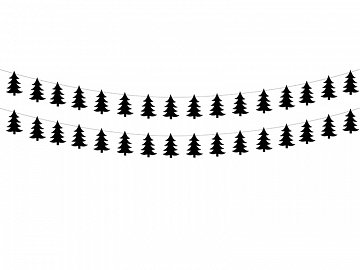 Garland Christmas Tree, black (1 ctn / 40 pkt) (1 pkt / 2 pc.)