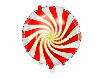 Foil balloon Candy, 35cm, red