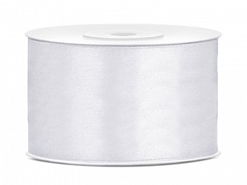 Satin Ribbon, white, 38mm/25m (1 pc. / 25 lm)