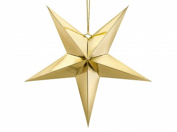 Paper star, 70cm, gold