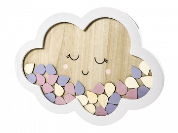 Wooden guest book - Cloud, 30.5x43cm