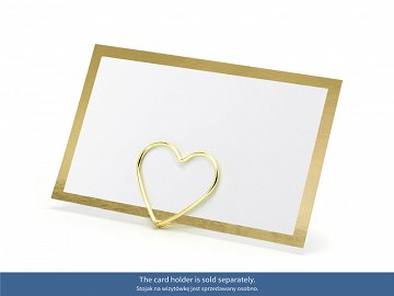 Place cards - Frame, gold, 9.5x5.5cm (1 pkt / 10 pc.)