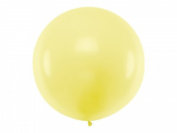 Balon okrągły 1m, Pastel Light Yellow