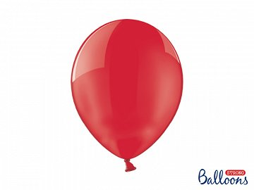 Balony Strong 30cm, Crystal Poppy Red (1 op. / 100 szt.)
