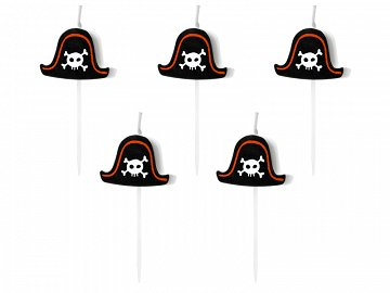 Birtday candles Pirates Party, 2cm  (1 pkt / 5 pc.)